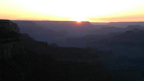 グランドキャニオ夕陽