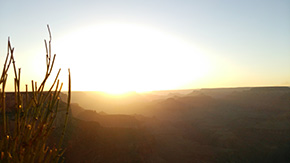 グランドキャニオン夕陽